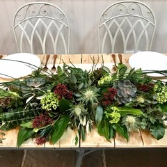 Christmas Floral Table Displays